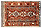 "4'x5'10"" Tribal Kilim Rug, Red"