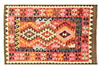 "2'10""x4'4"" Tribal Kilim Rug, Red"