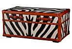 "Zebra 40"" Trunk, Black"