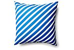 Whirl 20x20 Outdoor Pillow, Blue