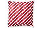 Whirl 20x20 Outdoor Pillow, Red