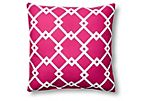 Dennis 20x20 Outdoor Pillow, Lipstick