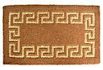 Greek Key Outdoor Mat, Brown