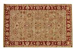 Anthea Rug, Kelp/Brick Red