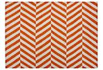 Loma Flat-Weave Rug, Orange