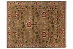 2'x3' Sierra Rug, Green/Brown