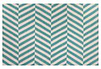 Sofia Flat-Weave Rug, Blue/Ivory