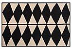 Moloh Flat-Weave Rug, Black