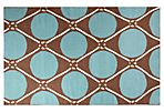 North West Flat-Weave Rug, Blue/Taupe