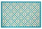 Pisek Outdoor Rug, Blue/Ivory