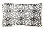 Ikat 12x20 Linen Pillow, Gray