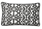 Ikat 12x20 Linen Pillow, Black