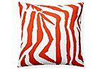 Zebe 20x20 Outdoor Pillow, Red