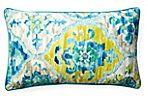 San Telmo 12x20 Outdoor Pillow, Blue