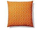 Rope 20x20 Cotton Pillow, Orange