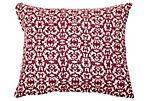 Ancient 16x20 Cotton Pillow, Burgundy