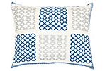 Mulit 16x20 Cotton Pillow, Blue