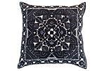 Steele 21x21 Kilim Pillow, Charcoal