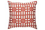Atami Screen 21x21 Linen Pillow, Rust