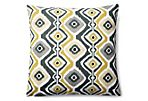 Beaded 20x20 Outdoor Pillow, Yellow