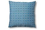 Soho 20x20 Outdoor Pillow, Blue