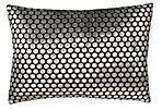 Dots 14x20 Silk-Blend Pillow, Silver