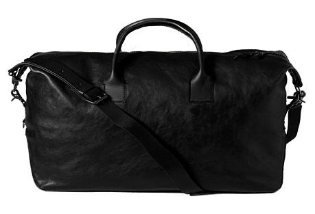 Travel in Style with One Kings Lane Leather Black Duffel