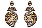 Diamond, Garnet & Sapphire Earrings