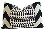 Monaco 20x20 Cotton Pillow, Black