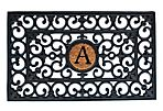 "1'6""x2'6"" Monogram Mat, Black"