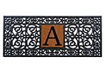 "1'5""x3'5"" Monogram Mat, Black"