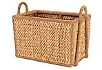 """Sweater-Weave Square Basket, 21"""""""