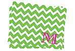S/25 Initial Chevron Stationery, Green