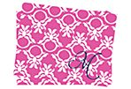 Pink Ring Damask Folded Stationery A