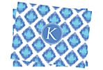 Initial Ikat Stationery, Blue/Lavender