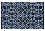 Jude Outdoor Rug, Blue/Sand