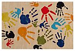 Handprint Rug, Ivory