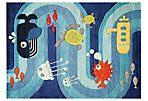 Underwater Rug, Blue