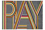 Bright Lines Rug, Pink