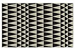 Savannah Flat-Weave Rug, Black