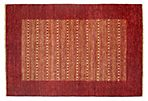 "4'6""x6'7"" Kissa Rug, Red/Multi"