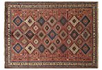6'x9' Yalameh Hand-Knotted Rug, Red
