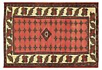"3'3""x4'9"" Persian Hand-Knotted Rug, Red"