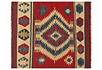 6'x9' Pakistani Flat-Weave Rug, Red