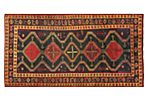 "5'3""x9'3"" Persian Knotted Rug, Black"
