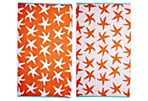 Starfish Beach Towel, Orange/Turquoise