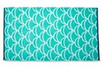 Scales Beach Towel, Aqua Green/Midnight