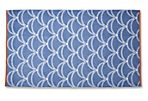 Scales Beach Towel, French Blue/Orange