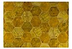 Honeycomb Rug, Gold