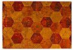 Honeycomb Rug, Rust/Orange